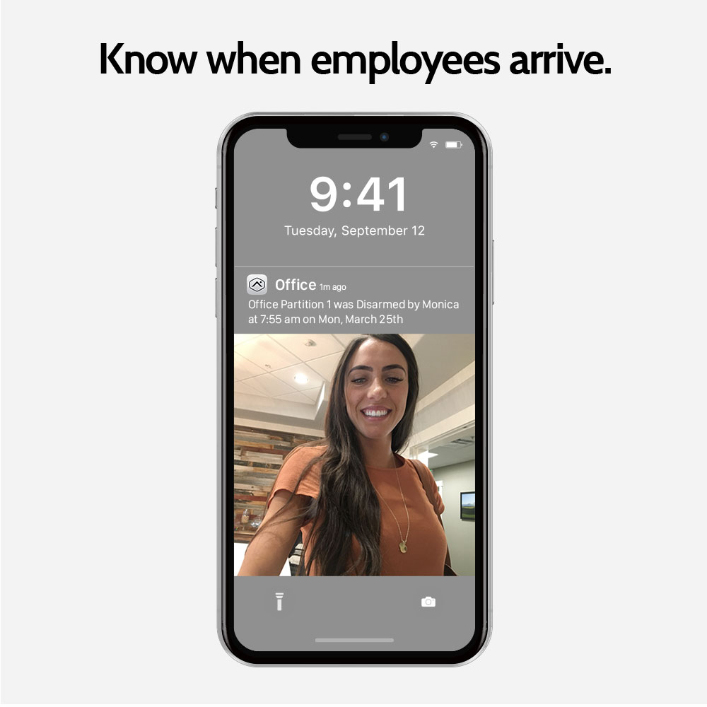 Know when employees arrive with business security from Granite Peak Alarm