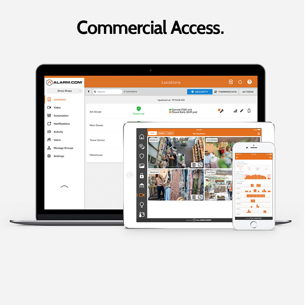 Business security access from any device with Granite Peak Alarm