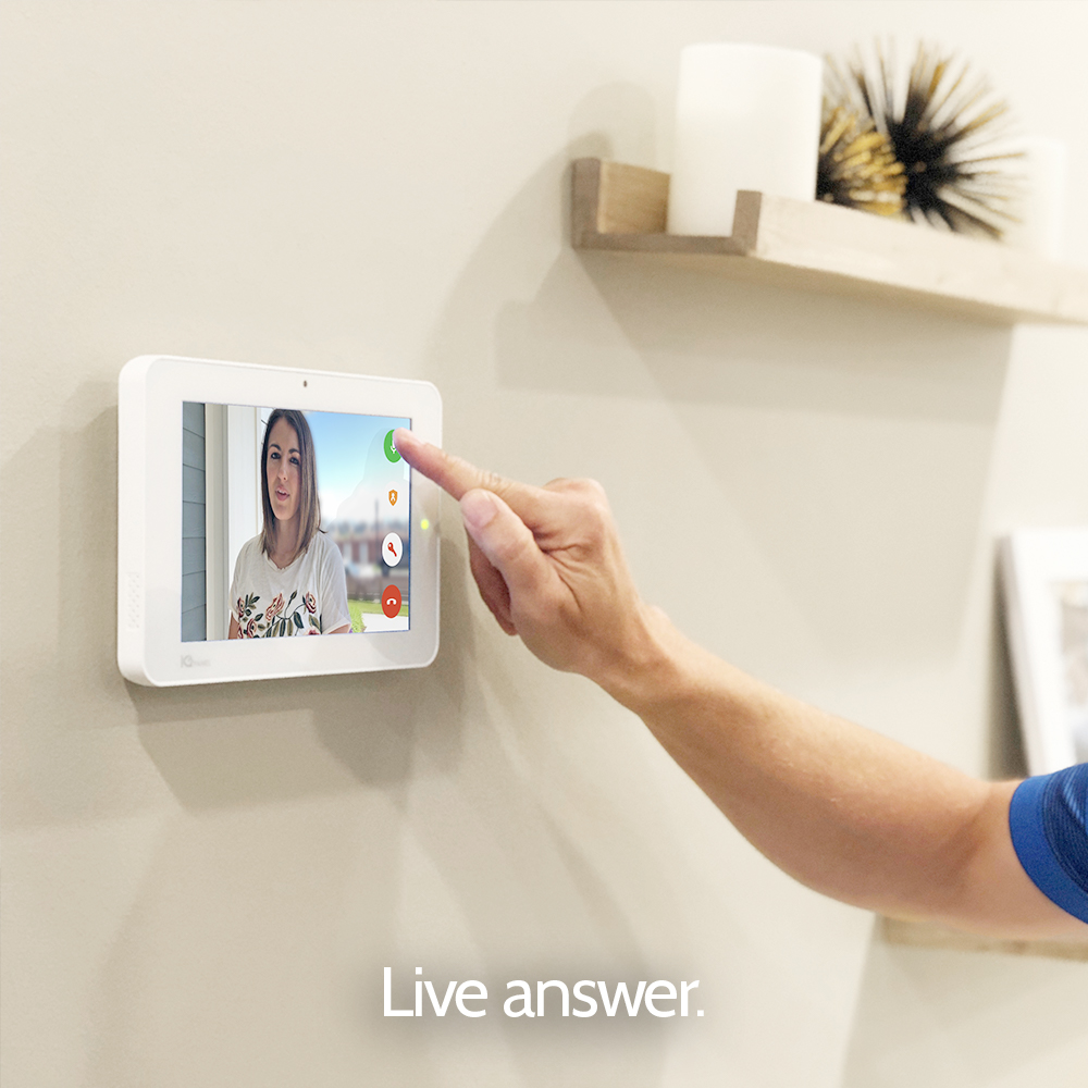 Live answer home security panel from Granite Peak Alarm