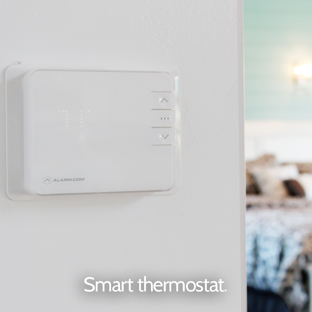 Smart home thermostat with home security from Granite Peak Alarm